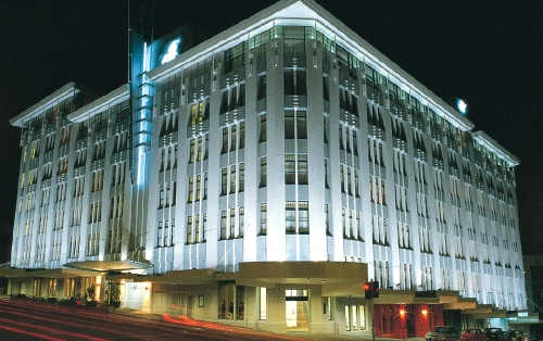 Street view of the Heritage Auckland at night